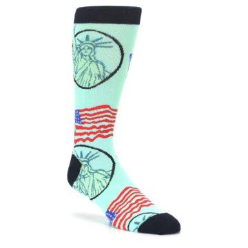 Image of Mint Black Lady Liberty Men's Dress Socks (side-1-27)