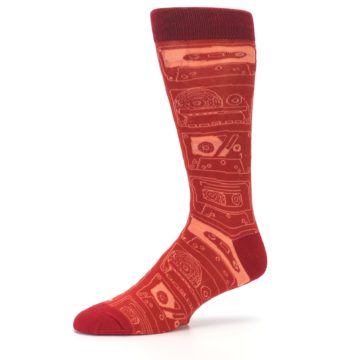 Image of Rust Old School Cassettes Men's Dress Socks (side-2-10)