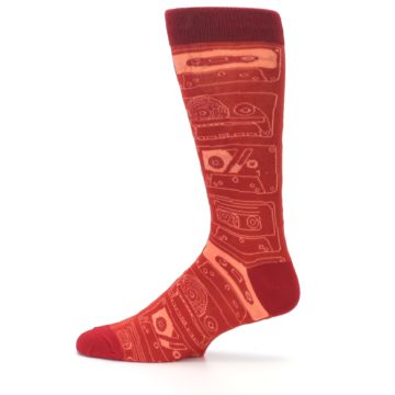 Image of Rust Old School Cassettes Men's Dress Socks (side-2-12)