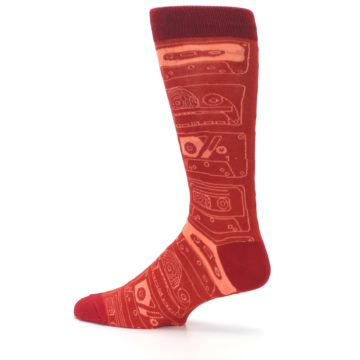 Image of Rust Old School Cassettes Men's Dress Socks (side-2-13)