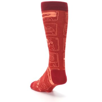Image of Rust Old School Cassettes Men's Dress Socks (side-2-back-16)