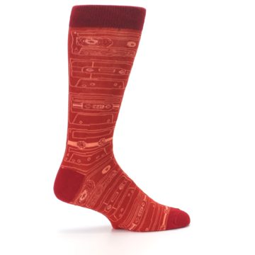 Image of Rust Old School Cassettes Men's Dress Socks (side-1-24)