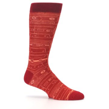 Image of Rust Old School Cassettes Men's Dress Socks (side-1-25)
