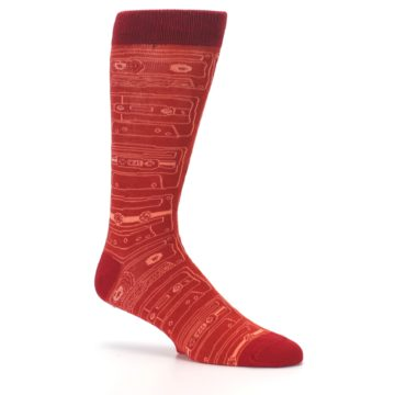 Image of Rust Old School Cassettes Men's Dress Socks (side-1-26)