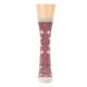 Image of Dusty Rose Diamonds Pyramid Women's Dress Socks (front-05)