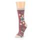 Image of Dusty Rose Diamonds Pyramid Women's Dress Socks (side-2-09)