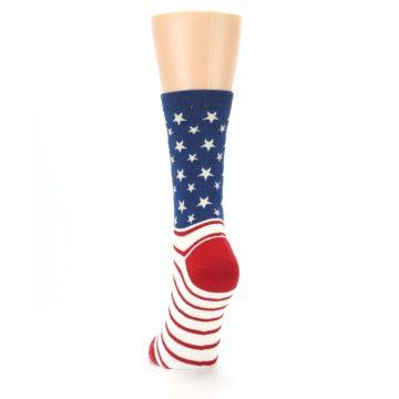 Image of Red Blue American Flag Women's Dress Socks (back-17)