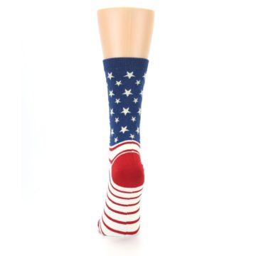 Image of Red Blue American Flag Women's Dress Socks (back-18)