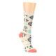 Image of Coral Tan Diamonds Tribal Pattern Women's Dress Socks (side-1-front-01)