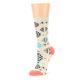Image of Coral Tan Diamonds Tribal Pattern Women's Dress Socks (side-2-09)