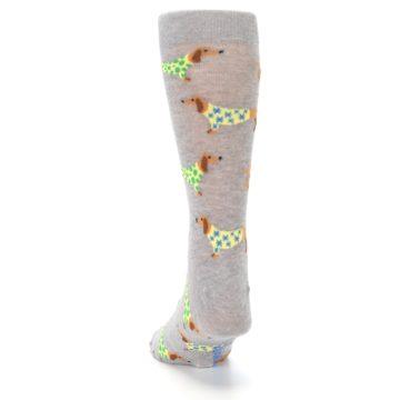 Image of Grey Dachshund Dogs Men's Dress Sock (back-17)