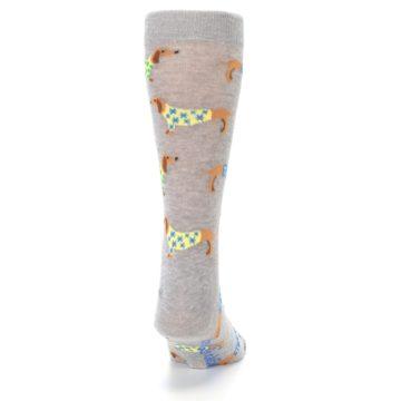 Image of Grey Dachshund Dogs Men's Dress Sock (back-19)