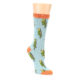 Image of Blue Budgie Bird Women's Bamboo Dress Socks (side-1-front-01)
