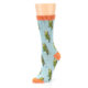 Image of Blue Budgie Bird Women's Bamboo Dress Socks (side-2-09)