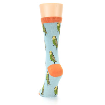 Image of Blue Budgie Bird Women's Bamboo Dress Socks (back-17)