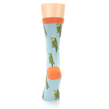 Image of Blue Budgie Bird Women's Bamboo Dress Socks (back-18)