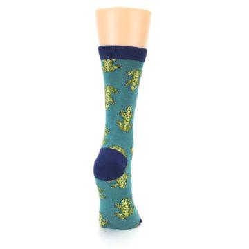 Image of Aqua Green Frogs Women's Bamboo Dress Socks (side-1-back-20)