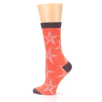 Image of Coral Sea Starfish Women's Bamboo Dress Socks (side-2-13)