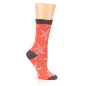 Image of Coral Sea Starfish Women's Bamboo Dress Socks (side-1-26)