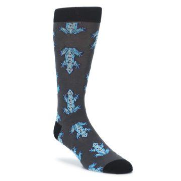 Charcoal Blue Frogs Mens Dress Socks Socksmith