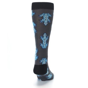 Image of Charcoal Blue Frogs Men's Dress Socks (back-19)