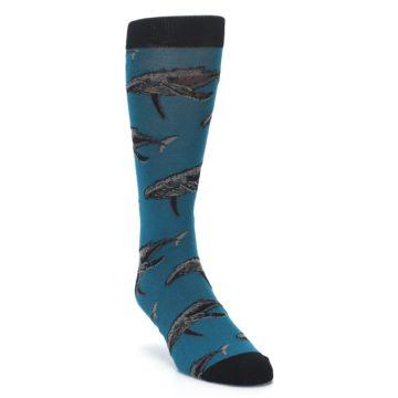 Image of Marine Blue Whales  Men's Dress Socks (side-1-front-02)