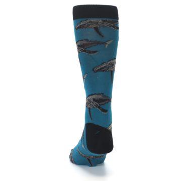 Image of Marine Blue Whales  Men's Dress Socks (back-17)