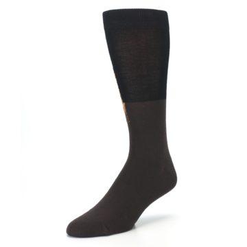 Image of Brown Black Grizzly Bear Men's Dress Socks (side-2-front-08)