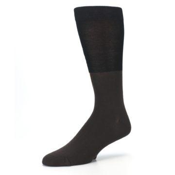 Image of Brown Black Grizzly Bear Men's Dress Socks (side-2-09)