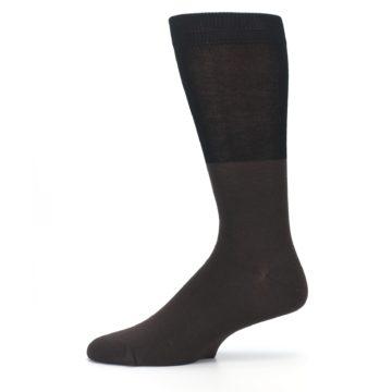 Image of Brown Black Grizzly Bear Men's Dress Socks (side-2-11)