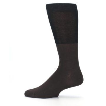 Image of Brown Black Grizzly Bear Men's Dress Socks (side-2-12)