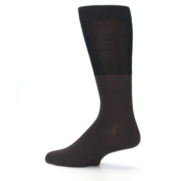 Image of Brown Black Grizzly Bear Men's Dress Socks (side-2-13)
