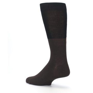 Image of Brown Black Grizzly Bear Men's Dress Socks (side-2-back-14)