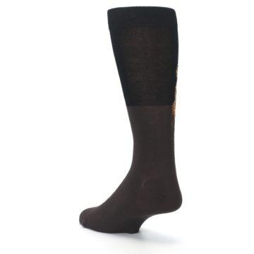 Image of Brown Black Grizzly Bear Men's Dress Socks (side-2-back-15)
