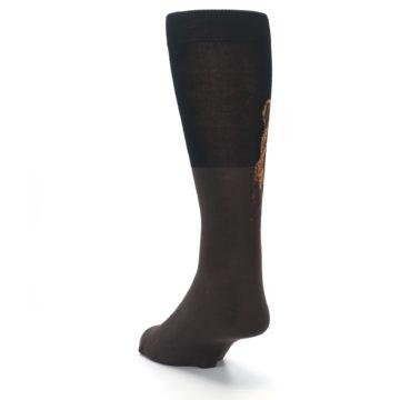 Image of Brown Black Grizzly Bear Men's Dress Socks (side-2-back-16)