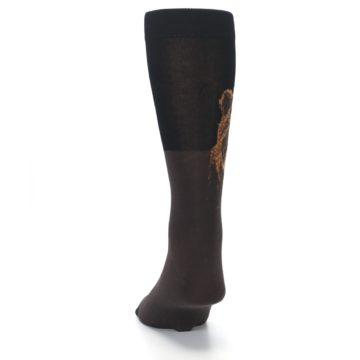Image of Brown Black Grizzly Bear Men's Dress Socks (back-17)