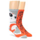 Image of Orange White BB-8 Star Wars Men's Two Pair Dress Socks (side-1-front-01)