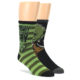 Image of Green Black Yoda Star Wars Men's Two Pair Dress Socks (side-1-front-01)