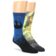 Image of Luke Skywalker and Yoda Star Wars Men's Two Pair Casual Socks (side-1-front-01)