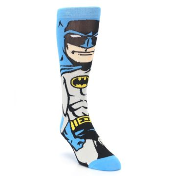 Image of Blue Grey Batman Men's Casual Socks (side-1-front-02)