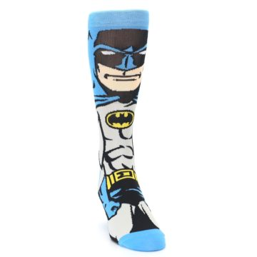 Image of Blue Grey Batman Men's Casual Socks (side-1-front-03)