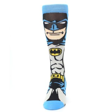 Image of Blue Grey Batman Men's Casual Socks (front-05)