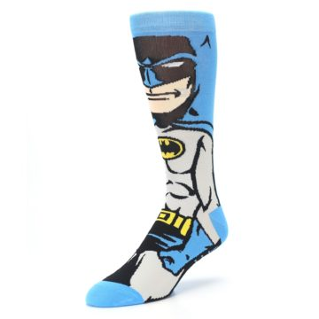 Image of Blue Grey Batman Men's Casual Socks (side-2-front-08)