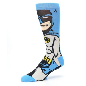 Image of Blue Grey Batman Men's Casual Socks (side-2-09)