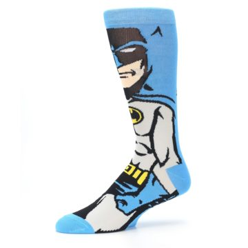 Image of Blue Grey Batman Men's Casual Socks (side-2-10)