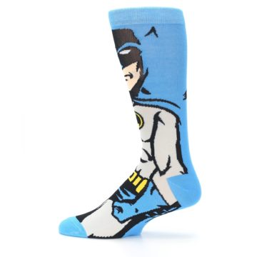 Image of Blue Grey Batman Men's Casual Socks (side-2-12)
