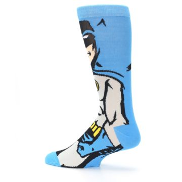 Image of Blue Grey Batman Men's Casual Socks (side-2-13)