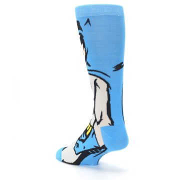 Image of Blue Grey Batman Men's Casual Socks (side-2-back-15)
