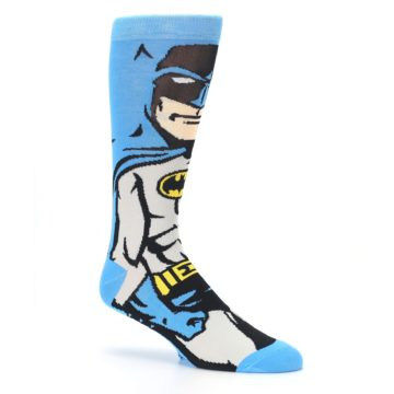 Image of Blue Grey Batman Men's Casual Socks (side-1-26)