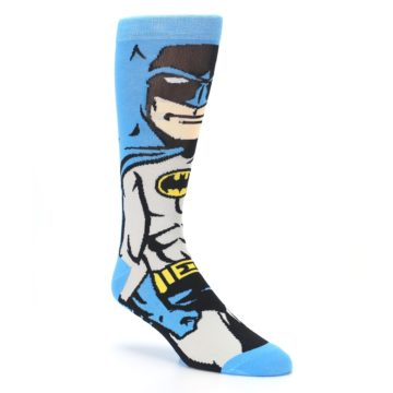 Image of Blue Grey Batman Men's Casual Socks (side-1-27)